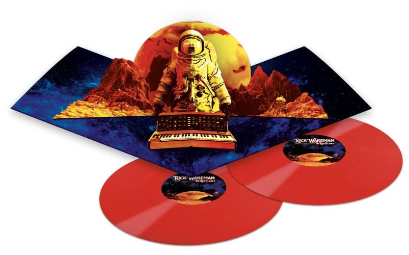 Il doppio LP in vinile rosso nella speciale copertina pop-up