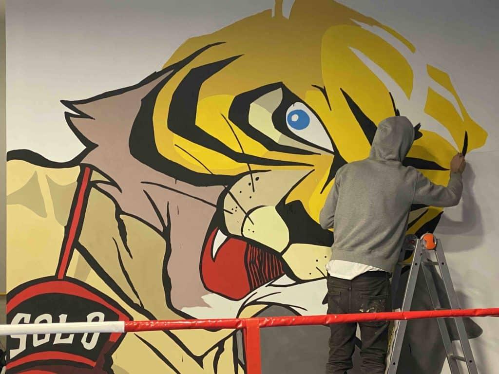 Making of Uomo Tigre, Palestra della Legalità