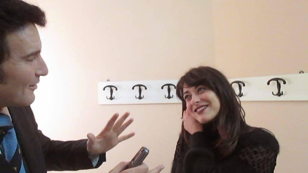 Zanier e Lodovini durante l'intervista