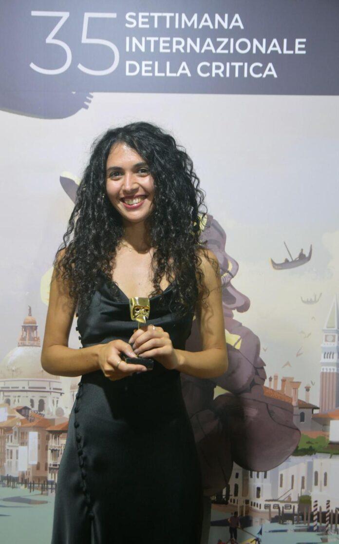 Olga Torrico alla premiazione