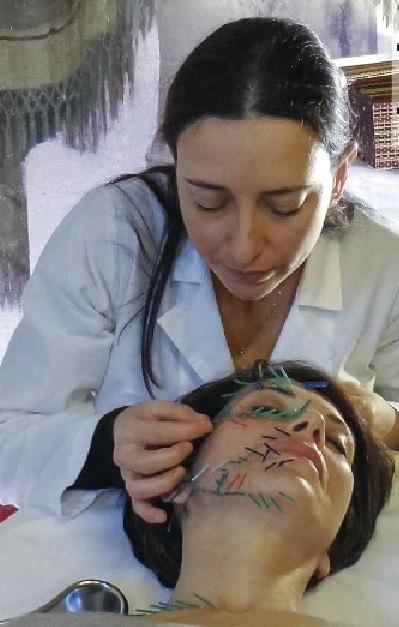 Cecilia Lucenti con una paziente